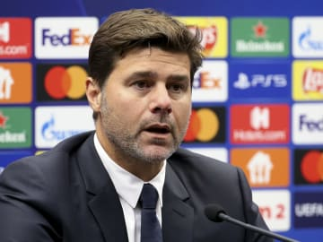 Mauricio Pochettino watched his PSG team make a limp start to their Champions League campaign