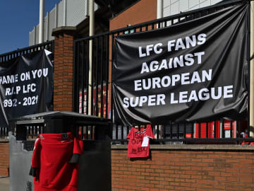 Liverpool fans do not want to take part in the European Super League