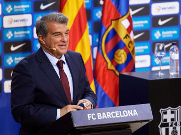 Joan Laporta was re-elected as Barca president earlier this month