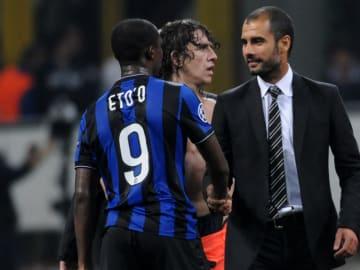 Samuel Eto'o, Pep Guardiola