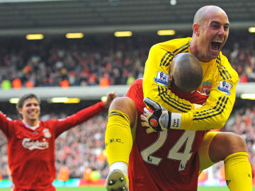Liverpool's French forward David Ngog is