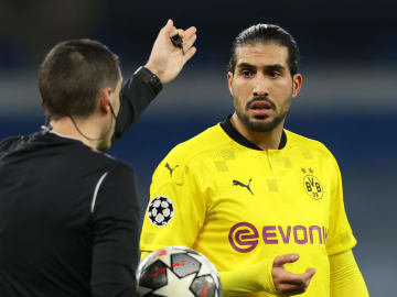 Emre Can conceded a penalty in Dortmund's loss to Man City
