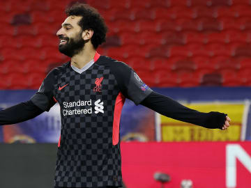 Mohamed Salah fired Liverpool to victory against RB Leipzig