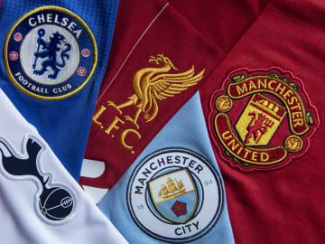 Top Six Club Badges on Football Shirts