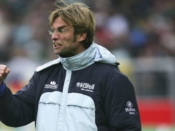 Jurgen Klopp's first win as a manager came on February 28, 2001