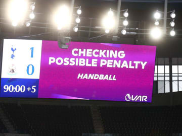 The handball law has led to a huge increase in penalties so far this season