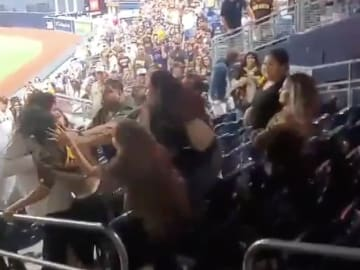 Padres fans fighting