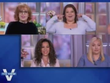 """Panelists react to Joy Baher's """"joke."""""""