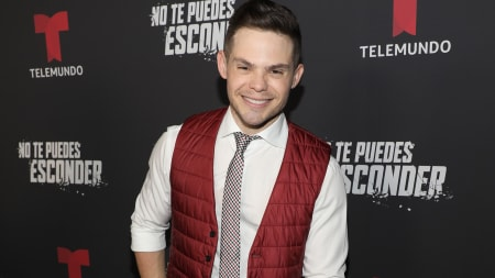 "DORAL, FL - SEPTEMBER 24:  Willy Martin is seen on the red carpet during the ""No Te Puedes Esconder"" premiere at Telemundo Center on September 24, 2019 in Doral, Florida.  (Photo by Alexander Tamargo/Getty Images)"