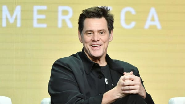 "BEVERLY HILLS, CA - AUGUST 02: Jim Carrey of ""Kidding"" speaks during the Showtime segment of the 2019 Summer TCA Press Tour at The Beverly Hilton Hotel on August 2, 2019 in Beverly Hills, California. (Photo by Amy Sussman/Getty Images)"