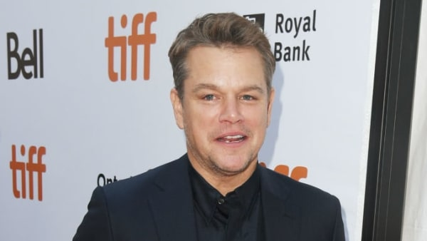 "TORONTO, ONTARIO - SEPTEMBER 09: Matt Damon attends the ""Ford v Ferrari"" premiere during the 2019 Toronto International Film Festival at Roy Thomson Hall on September 09, 2019 in Toronto, Canada. (Photo by Kevin Winter/Getty Images for TIFF)"
