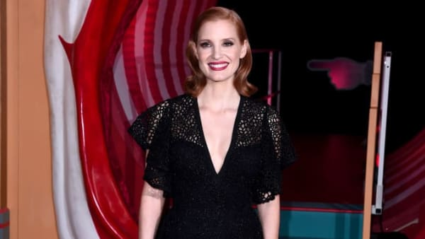 "LONDON, ENGLAND - SEPTEMBER 02: Jessica Chastain attends the ""IT Chapter Two"" European Premiere at The Vaults on September 02, 2019 in London, England. (Photo by Eamonn M. McCormack/Getty Images)"