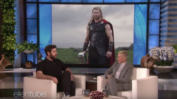 John Krasinski recalls trying out for Captain America, where he was intimidated by Chris Hemsworth