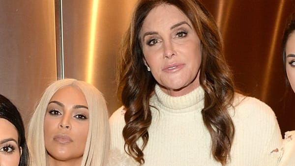 Kim Kardashian is all smiles with Caitlyn Jenner and Sophia Hutchins at the Vanity Fair Oscars party