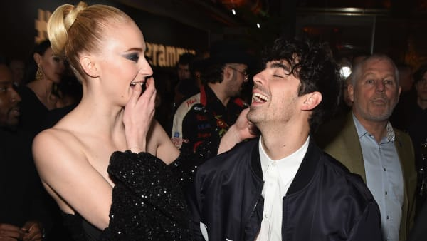 BEVERLY HILLS, CA - FEBRUARY 10:  Sophie Turner (L) and Joe Jonas during Republic Records Grammy after party at Spring Place Beverly Hills on February 10, 2019 in Beverly Hills, California.  (Photo by Presley Ann/Getty Images for Republic Records)