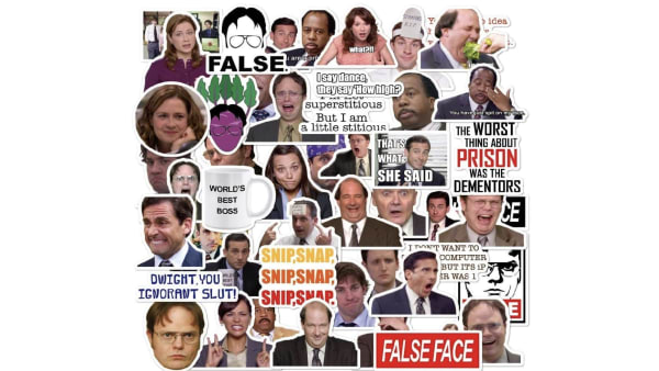 'The Office' stickers available on Amazon