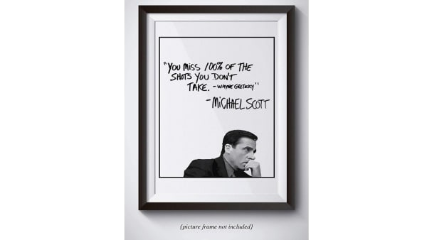 Michael Scott poster available on Amazon