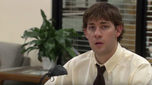 John Krasinski (Jim Halpert) and Rainn Wilson (Dwight Schrute) in 'The Office' Season 2 cold open