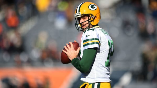 CHICAGO, IL - DECEMBER 16:  Quarterback Aaron Rodgers #12 of the Green Bay Packers warms up prior to the game against the Chicago Bears at Soldier Field on December 16, 2018 in Chicago, Illinois.  (Photo by Stacy Revere/Getty Images)