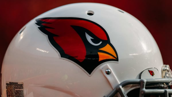 KANSAS CITY, MO - NOVEMBER 11: An Arizona Cardinals helmet sits on the sidelines during the second half of the game against the Kansas City Chiefs at Arrowhead Stadium on November 11, 2018 in Kansas City, Missouri. (Photo by David Eulitt/Getty Images)