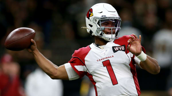 NEW ORLEANS, LOUISIANA - OCTOBER 27: Kyler Murray #1 of the Arizona Cardinals looks to pass during a NFL game during a game against the New Orleans Saints at the Mercedes Benz Superdome on October 27, 2019 in New Orleans, Louisiana. (Photo by Sean Gardner/Getty Images)