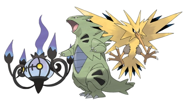 Chandelure, Tyranitar and Zapdos are good counters for most of Arlo's team.
