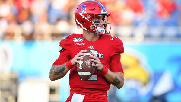 BOCA RATON, FLORIDA - SEPTEMBER 07: Chris Robison #2 of the Florida Atlantic Owls in action against the UCF Knights at FAU Stadium on September 07, 2019 in Boca Raton, Florida. (Photo by Mark Brown/Getty Images)