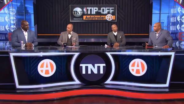 Charles Barkley, Shaquille O'Neal, Kenny Smith, Ernie Johnson on Inside the NBA