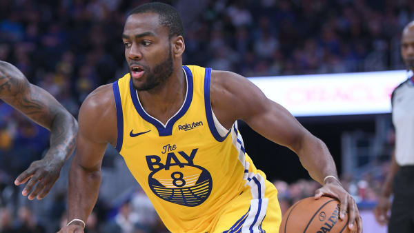 SAN FRANCISCO, CALIFORNIA - NOVEMBER 02: Alec Burks #8 of the Golden State Warriors dribbles the ball against the Charlotte Hornets during an NBA basketball game at Chase Center on November 02, 2019 in San Francisco, California. NOTE TO USER: User expressly acknowledges and agrees that, by downloading and or using this photograph, User is consenting to the terms and conditions of the Getty Images License Agreement. (Photo by Thearon W. Henderson/Getty Images)