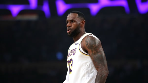 LOS ANGELES, CALIFORNIA - OCTOBER 27:  LeBron James #23 of the Los Angeles Lakers looks on during the second half of a game against the Charlotte Hornets at Staples Center on October 27, 2019 in Los Angeles, California. (Photo by Sean M. Haffey/Getty Images)