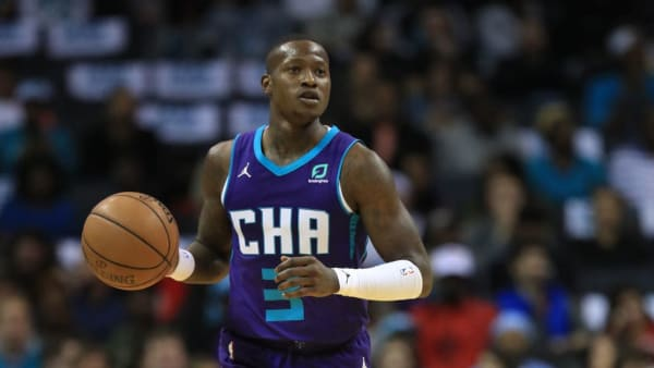 CHARLOTTE, NORTH CAROLINA - OCTOBER 23: Terry Rozier III #3 of the Charlotte Hornets during their game at Spectrum Center on October 23, 2019 in Charlotte, North Carolina. NOTE TO USER: User expressly acknowledges and agrees that, by downloading and or using this photograph, User is consenting to the terms and conditions of the Getty Images License Agreement.  (Photo by Streeter Lecka/Getty Images)
