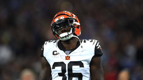 LONDON, ENGLAND - OCTOBER 27: Shawn Williams of Cincinnati Bengals looks on during the NFL game between Cincinnati Bengals and Los Angeles Rams at Wembley Stadium on October 27, 2019 in London, England. (Photo by Alex Davidson/Getty Images)