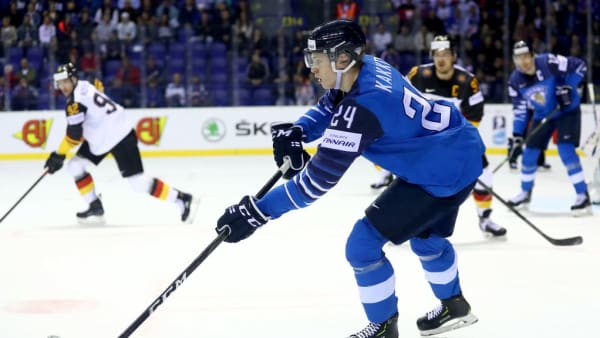 KOSICE, SLOVAKIA - MAY 21: Kaapo Kakko of Finland skates against Germany during the 2019 IIHF Ice Hockey World Championship Slovakia group A game between Finland and Germany at Steel Arena on May 21, 2019 in Kosice, Slovakia. (Photo by Martin Rose/Getty Images)