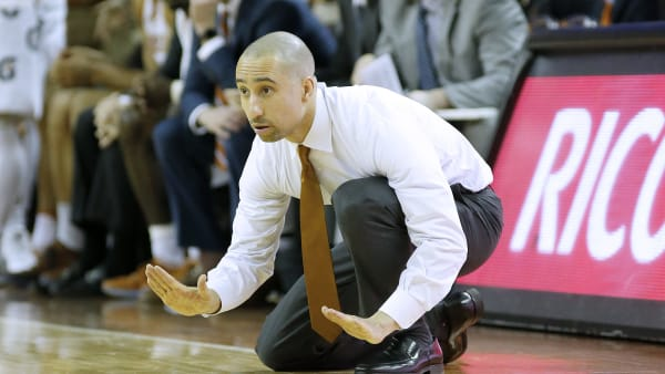 AUSTIN, TEXAS - FEBRUARY 12: Head coach Shaka Smart of the Texas Longhorns reacts as his team plays the Kansas State Wildcats at The Frank Erwin Center on February 12, 2019 in Austin, Texas. (Photo by Chris Covatta/Getty Images)