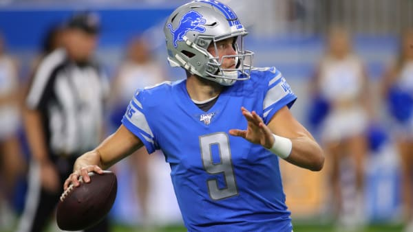 DETROIT, MICHIGAN - OCTOBER 20: Matthew Stafford #9 of the Detroit Lions throws a second half pass against the Minnesota Vikings at Ford Field on October 20, 2019 in Detroit, Michigan. Minnesota won the game 42-30. (Photo by Gregory Shamus/Getty Images)