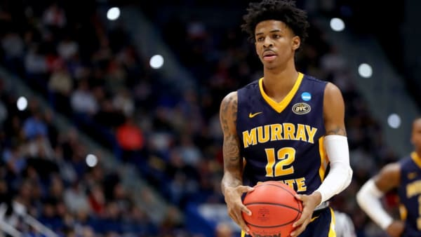 HARTFORD, CONNECTICUT - MARCH 23:  Ja Morant #12 of the Murray State Racers attempts a free throw against the Florida State Seminoles in the second half during the second round of the 2019 NCAA Men's Basketball Tournament at XL Center on March 23, 2019 in Hartford, Connecticut. (Photo by Maddie Meyer/Getty Images)