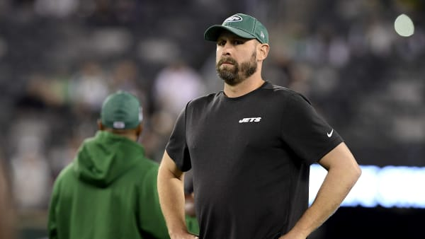 EAST RUTHERFORD, NEW JERSEY - OCTOBER 21:  Head coach Adam Gase of the New York Jets looks on prior to the game against the New England Patriots at MetLife Stadium on October 21, 2019 in East Rutherford, New Jersey. (Photo by Steven Ryan/Getty Images)