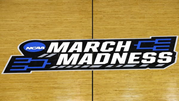 COLUMBIA, SOUTH CAROLINA - MARCH 22:  A view of the March Madness logo prior to the game between the Duke Blue Devils and the North Dakota State Bison during the first round of the 2019 NCAA Men's Basketball Tournament at Colonial Life Arena on March 22, 2019 in Columbia, South Carolina. (Photo by Kevin C.  Cox/Getty Images)
