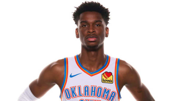 OKLAHOMA CITY, OKLAHOMA - SEPTEMBER 30: Shai Gilgeous-Alexander #2 of the Oklahoma City Thunder poses for a portrait during media day at Chesapeake Energy Arena on September 30, 2019 in Oklahoma City, Oklahoma. NOTE TO USER: User expressly acknowledges and agrees that, by downloading and/or using this photograph, user is consenting to the terms and conditions of the Getty Images License Agreement.  (Photo by Cooper Neill/Getty Images)