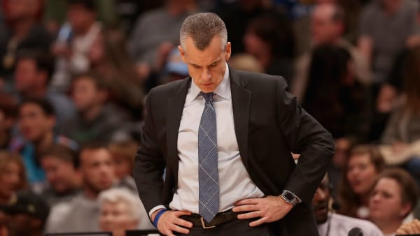 DENVER, COLORADO - DECEMBER 14: Head coach Billy Donovan of the Oklahoma City Thunder works the sidelines against the Denver Nuggets at the Pepsi Center on December 14, 2018 in Denver, Colorado. NOTE TO USER: User expressly acknowledges and agrees that, by downloading and or using this photograph, User is consenting to the terms and conditions of the Getty Images License Agreement.  (Photo by Matthew Stockman/Getty Images)
