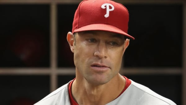 PHOENIX, ARIZONA - AUGUST 07:  Manager Gabe Kapler #19 of the Philadelphia Phillies in the dugout during the MLB game against the Arizona Diamondbacks at Chase Field on August 07, 2019 in Phoenix, Arizona. (Photo by Christian Petersen/Getty Images)