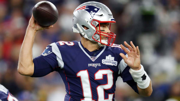 FOXBOROUGH, MASSACHUSETTS - SEPTEMBER 08: Tom Brady #12 of the New England Patriots throws a pass during the first half against the Pittsburgh Steelers at Gillette Stadium on September 08, 2019 in Foxborough, Massachusetts. (Photo by Maddie Meyer/Getty Images)