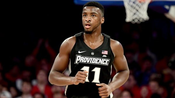 Alpha Diallo leads the Friars in points (13.6) and rebounds (8.9).