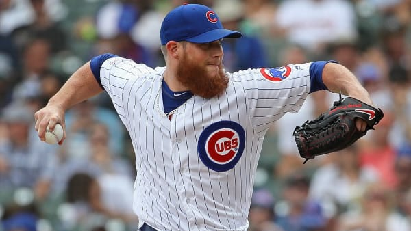 CHICAGO, ILLINOIS - JULY 19: Craig Kimbrel #24 of the Chicago Cubs pitches against the San Diego Padres at Wrigley Field on July 19, 2019 in Chicago, Illinois. The Cubs defeated the Padres 6-5. (Photo by Jonathan Daniel/Getty Images)