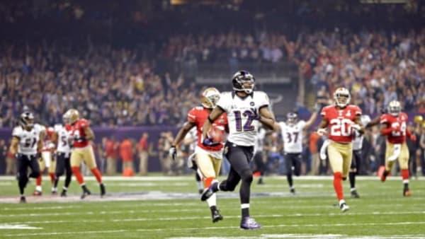 Ravens KR Jacoby Jones in Super Bowl XLVII