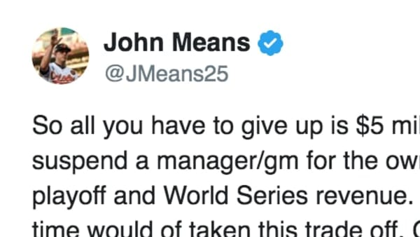 Orioles pitcher John Means called out MLB for Astros lacking punishment