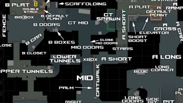 CS:GO callouts in Dust2 can be complicated much like any map in the competitive scene.