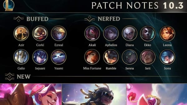 League of Legends Champion Tier lists for Patch 10.3 have started to be made.