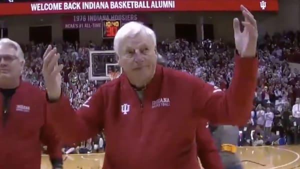 Bob Knight back at IU