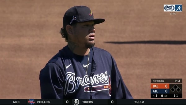 Felix Hernandez Dominated His First Inning in a Braves Uniform and it Felt Extremely Strange